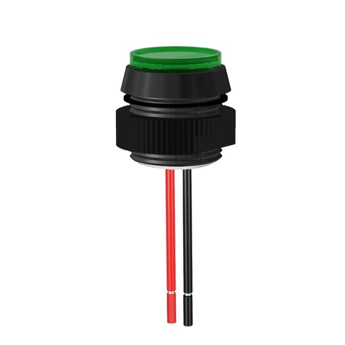 LED-Meldeleuchte Ø16mm IP67 mit Blendenkopf
