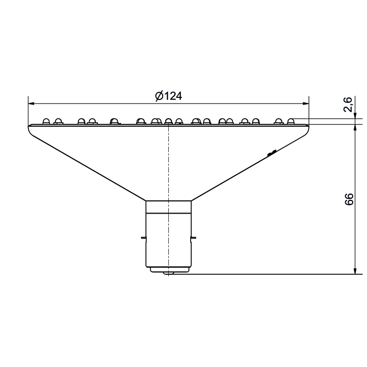 LED-Lampe Ø124mm - plan