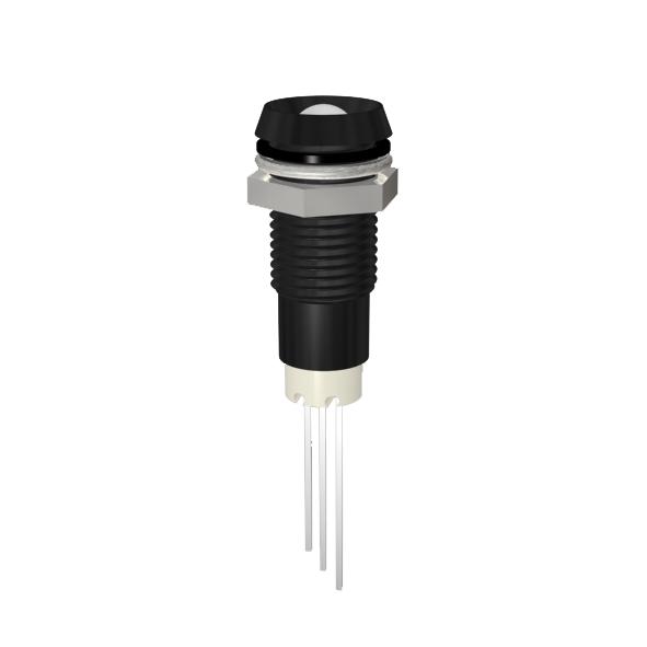 LED-Signalleuchte Ø8mm IP67 Innenreflektor zweifarbig