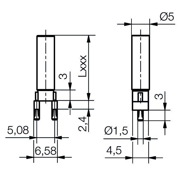 Einzel-Lichtleiter Ø5 mm - plan
