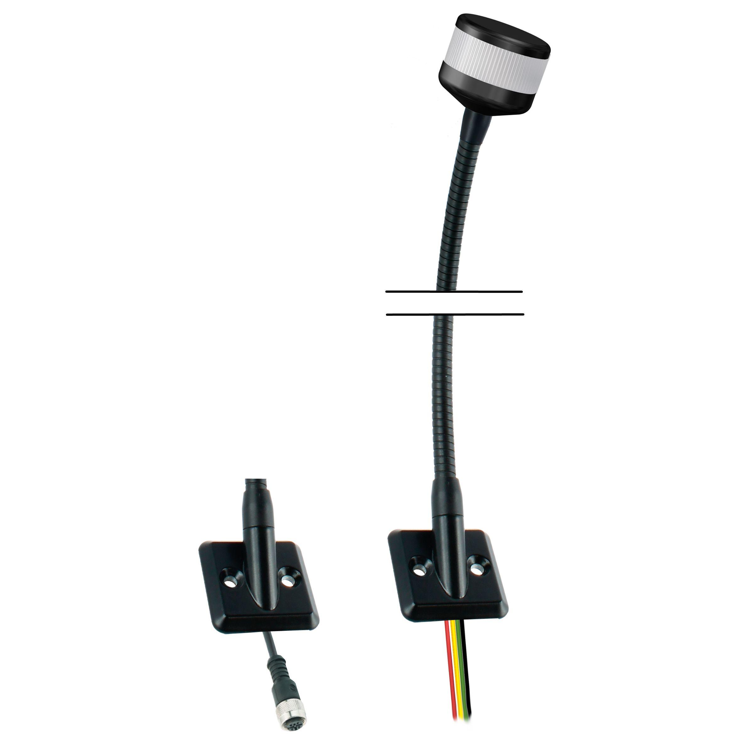 LED-Kompakt-Towerlampe in RYG mit Befestigungs-Flansch