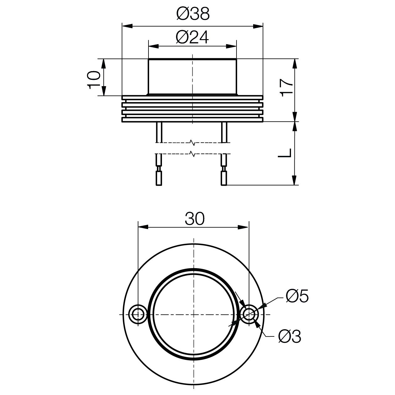 Power-LED-Modul MinoStar IP67 - plan