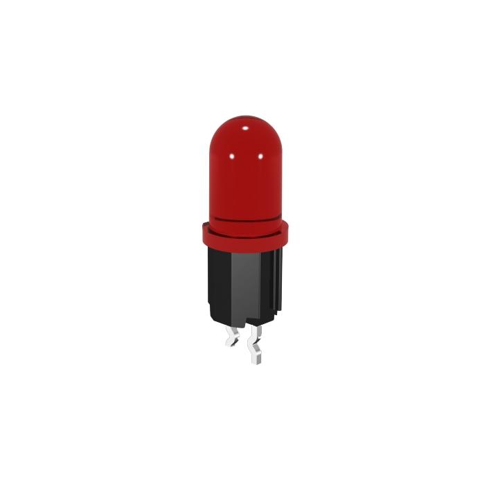 LED Halter mit 5mm LED und Haltesicke