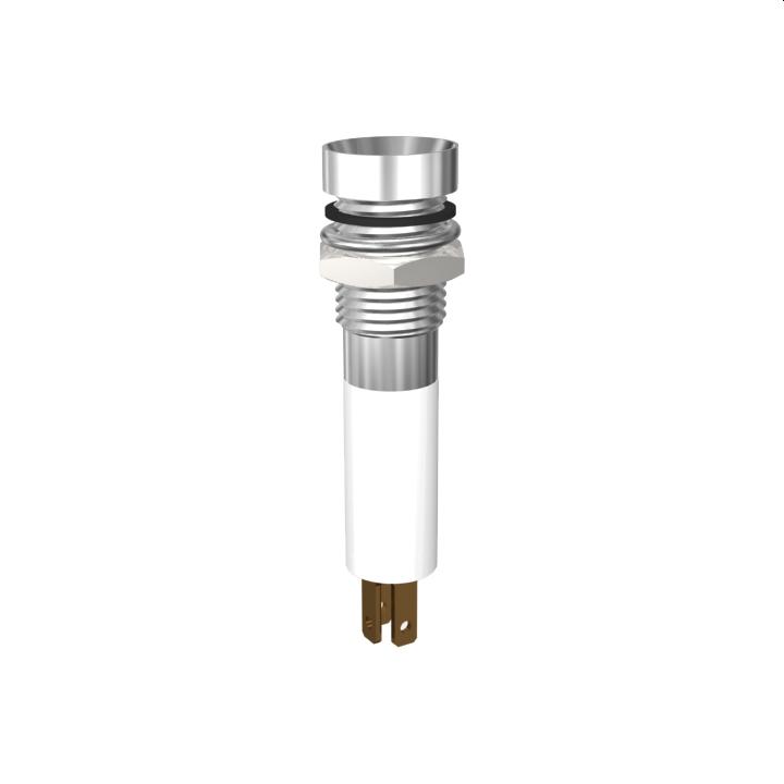 LED-Signalleuchte Ø8mm IP67 Innenreflektor Kopf zylindrisch zweifarbig