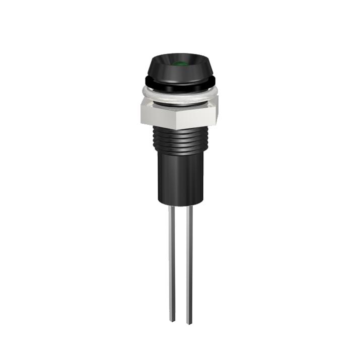 LED-Signalleuchte Ø6mm IP67 Innenreflektor