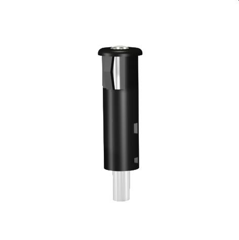Lichtleiter-Modul PC schwarz mit Außenreflektorgehäuse Ø3mm Lichtleiter