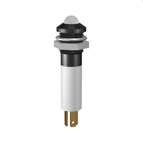LED-Signalleuchte Ø8mm Außenreflektor zweifarbig