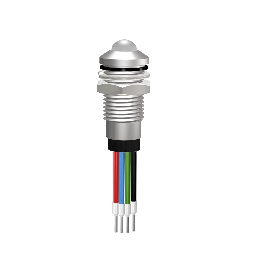 LED-Signalleuchte Ø8mm IP67 Außenreflektor, RGB