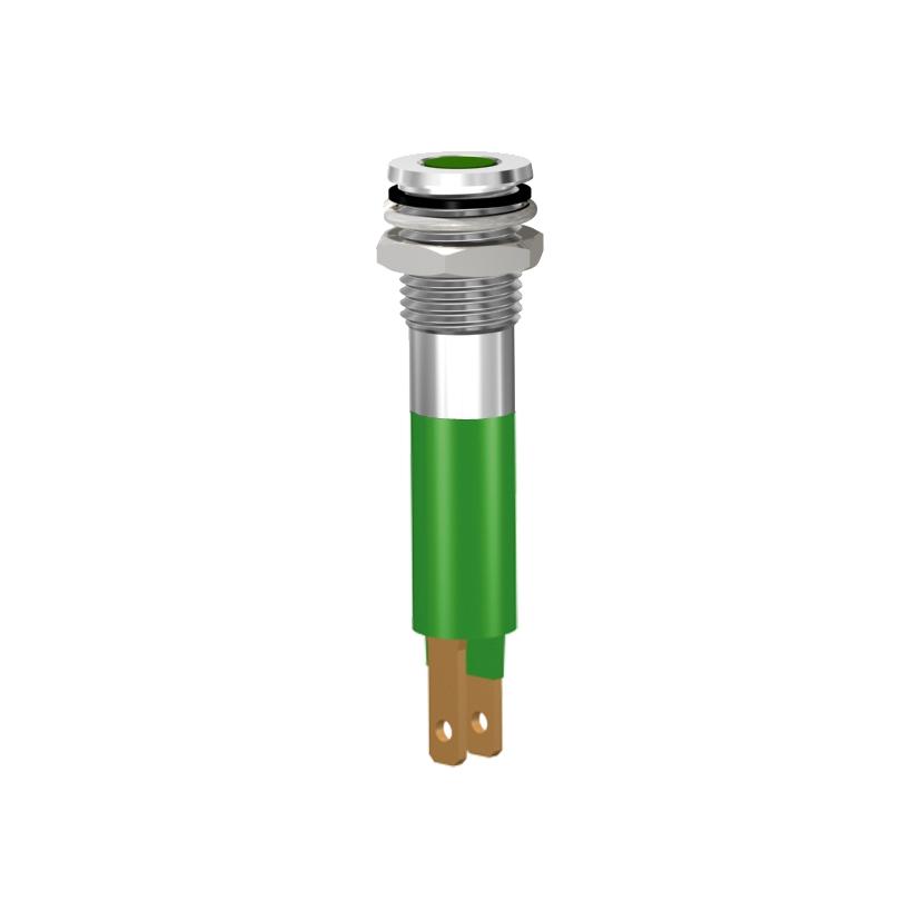 LED-Signalleuchte Ø8mm IP67 Plan-Kopf LED